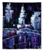 Night Town Cle Fleece Blanket