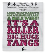 No06 My Silly Quote Poster Fleece Blanket