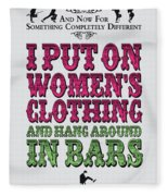 No09 My Silly Quote Poster Fleece Blanket