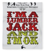 No10 My Silly Quote Poster Fleece Blanket