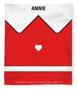 No1027 My Annie Minimal Movie Poster Fleece Blanket
