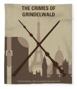 No1042 My The Crimes Of Grindelwald Minimal Movie Poster Fleece Blanket