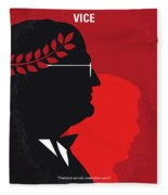 No1043 My Vice Minimal Movie Poster Fleece Blanket
