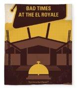 No1044 My Bad Times At The El Royale Minimal Movie Poster Fleece Blanket