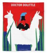 No1048 My Doctor Dolittle Minimal Movie Poster Fleece Blanket