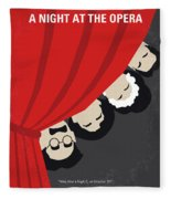 No1053 My A Night At The Opera Minimal Movie Poster Fleece Blanket