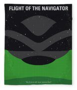 No1067 My Flight Of The Navigator Minimal Movie Poster Fleece Blanket