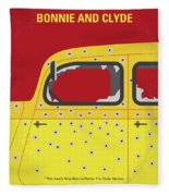 No1072 My Bonnie And Clyde Minimal Movie Poster Fleece Blanket