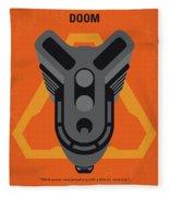 No1075 My Doom Minimal Movie Poster Fleece Blanket