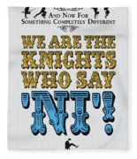 No11 My Silly Quote Poster Fleece Blanket