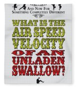 No14 My Silly Quote Poster Fleece Blanket