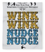 No18 My Silly Quote Poster Fleece Blanket