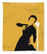 No224 My Edith Piaf Minimal Music Poster Fleece Blanket