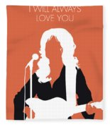 No273 My Dolly Parton Minimal Music Poster Fleece Blanket