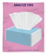 No968 My Analyze This Minimal Movie Poster Fleece Blanket