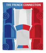 No982 My The French Connection Minimal Movie Poster Fleece Blanket