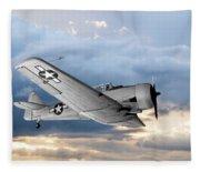 North American T-6 Texan Military Aircraft Fleece Blanket