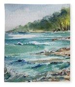 North Beach, Leland, Mi Fleece Blanket