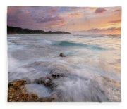 North Shore Sunset Surge Fleece Blanket