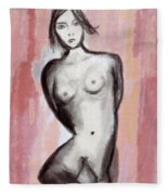 Nude 51 Fleece Blanket
