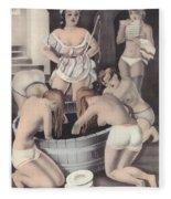 Nude And Obeying Fleece Blanket