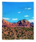 Oak Creek Jack's Canyon Blue Sky Clouds Red Rock 0228 3 Fleece Blanket