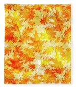 Oak Leaf Pattern Fleece Blanket