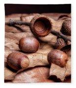 Oak Tree Macro Fleece Blanket