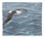 Ocean Flight Seabirds By Alan M Hunt Fleece Blanket
