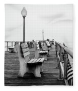 Ocean Grove Pier 2 Fleece Blanket