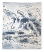 Ocean Rising Fleece Blanket