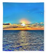 Ocean Sunrise Fleece Blanket