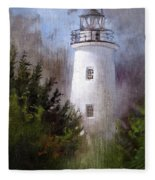 Ocracoke Light Fleece Blanket