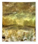 October At The Falls Fleece Blanket
