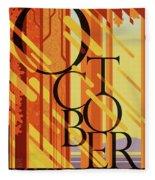 October In Michigan Fleece Blanket