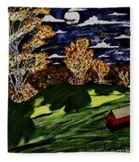 October Moon Shadow Fleece Blanket