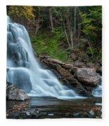 October Morning At Bastion Falls II Fleece Blanket