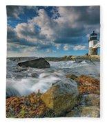 October Morning At Marshall Point Fleece Blanket