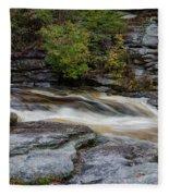 October Morning On The Peterskill II Fleece Blanket