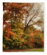 October Skies  Fleece Blanket