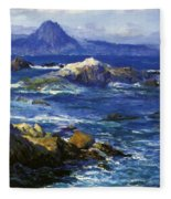 Off Mission Point Aka Point Lobos Fleece Blanket
