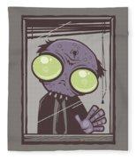 Office Zombie Fleece Blanket