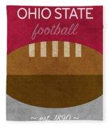 Ohio State Football Minimalist Retro Sports Poster Series 003 Fleece Blanket