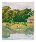 okayama kourakuen - Top Quality Image Edition Fleece Blanket