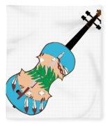 Oklahoma State Fiddle Fleece Blanket