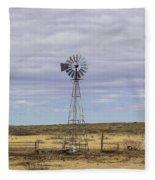 Oklahoma Windmill Fleece Blanket