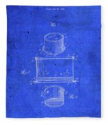 Old Ant Trap Vintage Patent Blueprint Fleece Blanket