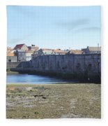 old bridge across river Tweed at Berwick-upon-tweed Fleece Blanket