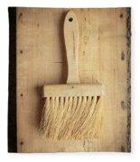 Old Bristle Brush Fleece Blanket
