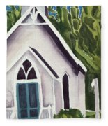 Old Church Copake Falls Fleece Blanket